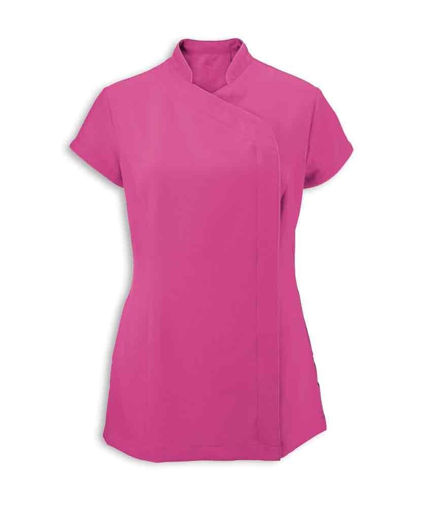 Alexandra Workwear Womens Easycare Wrap Zip Beauty Tunic