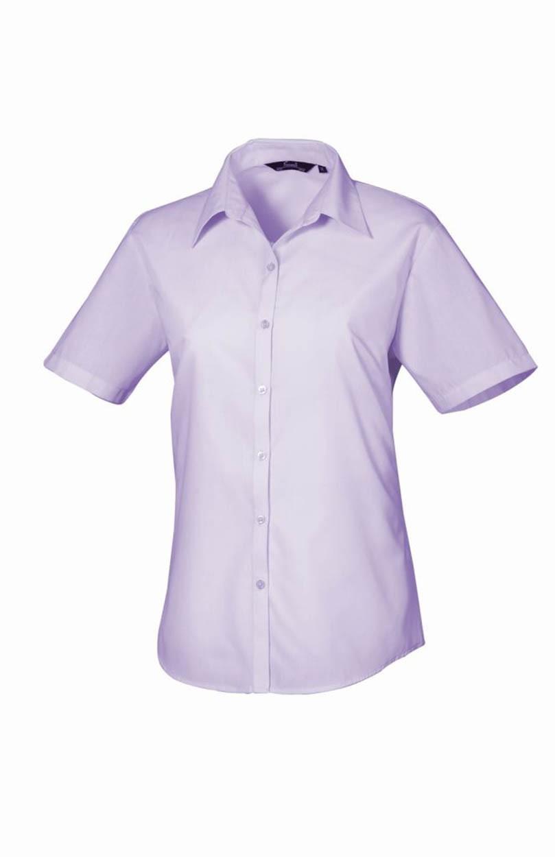 202be71ce64dd6 Premier PR302 Ladies Short Sleeve Poplin Blouse - Ladies Short ...