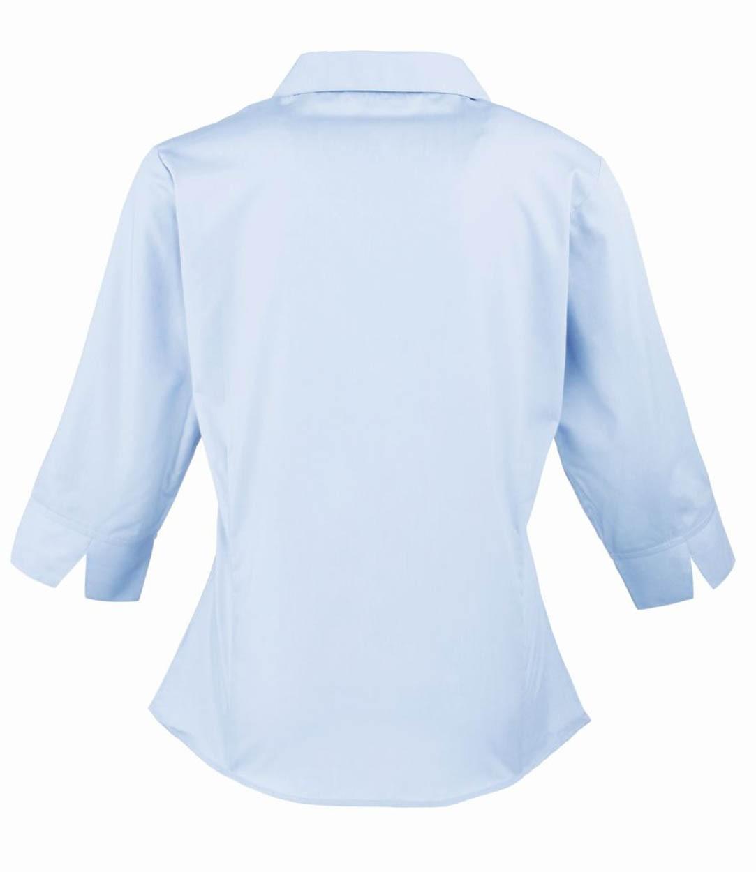 ec50ed6c415d3 Premier PR305 Ladies 3 4 Sleeve Poplin Blouse - Ladies Long Sleeve ...