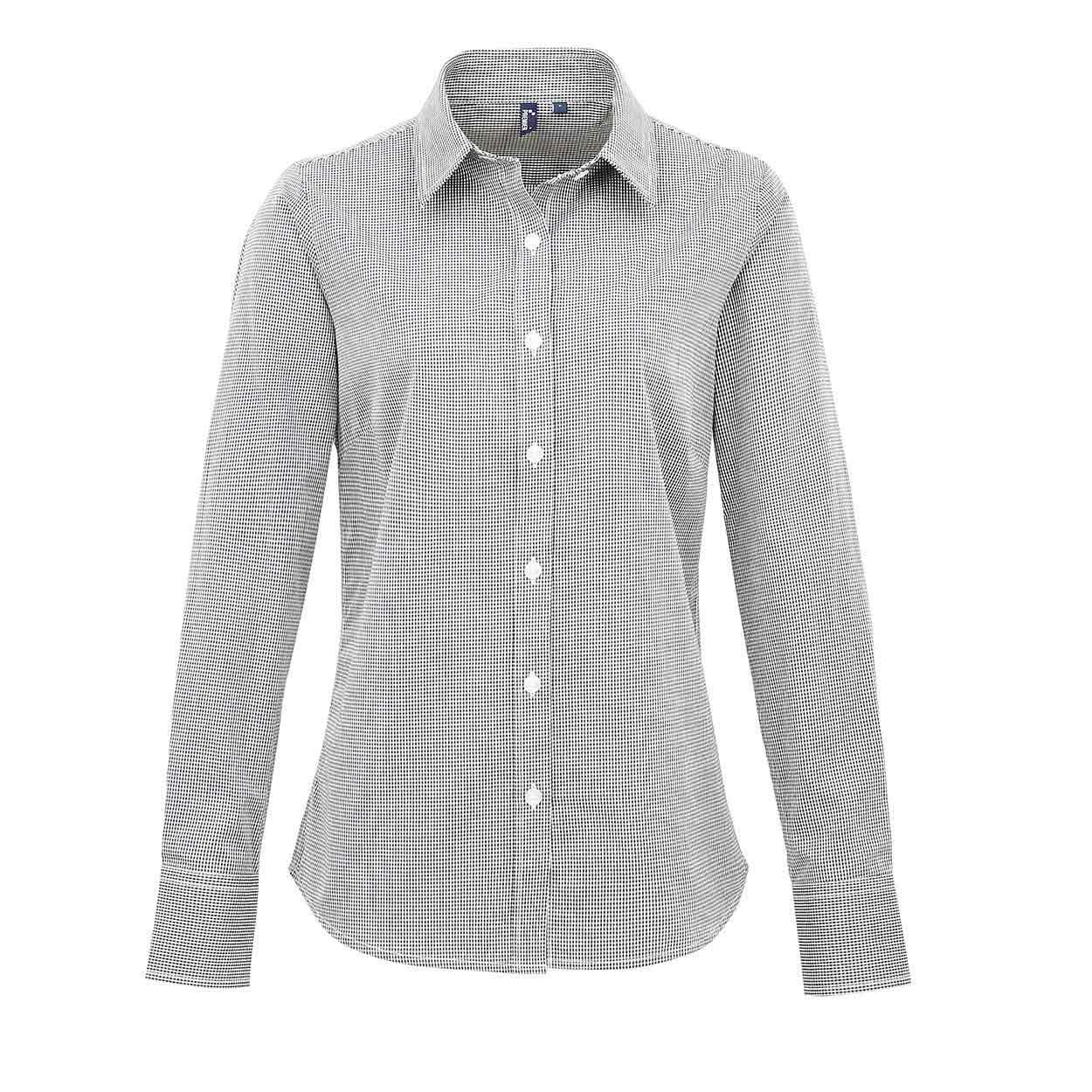... cotton shirt. Zoom · Premier PR320 Women s Microcheck (Gingham) long sl  ... cc6b36b9b94