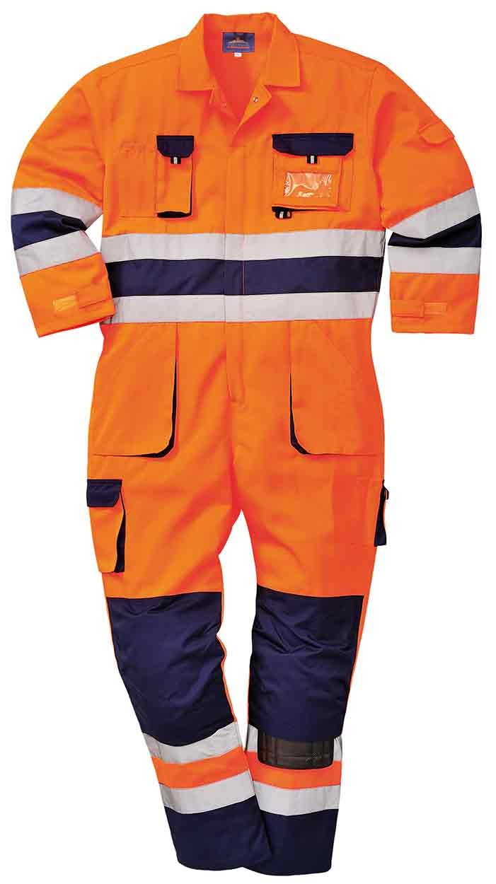 PORTWEST TX55 Nantes orange//navy or yellow//navy hi-vis coverall size small-3XL