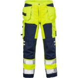 Fristads High vis craftsman soft shell trousers cl 2 2699 WYH