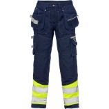 Fristads High vis Gen Y craftsman trousers cl 1 2127 CYD