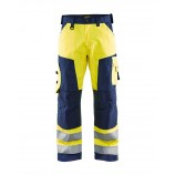 Blaklader 1566 High Vis Trousers Without Nail Pockets