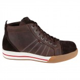 Red Brick Smarged Composite Safety Sneakers