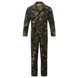 Fort Workwear 334 Camo Stud Front Boilersuit