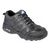 Himalayan 4041BK Black Leather Air Bubble Trainer Shoe