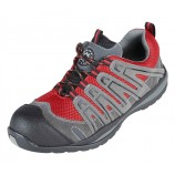 Securityline 4206GR Halcon Red/Grey Metal Free Safety Trainer