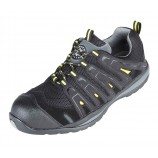 Securityline 4208BK Falco Black/Yellow Metal Free Safety Trainer