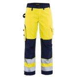 Blaklader 7155 Ladies High Vis Trousers Without Nail Pockets