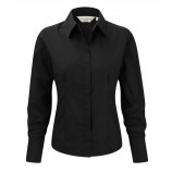 Russell Collection 924F Ladies Long Sleeve Poly Cotton Poplin Shirt