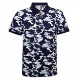 Asquith & Fox AQ018 Camo piqué polo