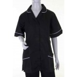 Click Workwear ATUBL Ladies Tunic Black/White Trim
