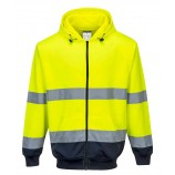Portwest B317 Two-Tone Zip Front Hoodie