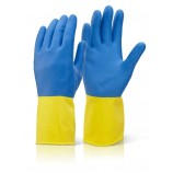 Click BCYB Bi Colour Heavyweight Rubber Glove