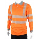 B-Seen BPKEXECLS Hiviz Executive Long Sleeve Polo