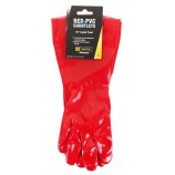 B-Safe Prepack BS056 Pvc Gauntlet Red 16""