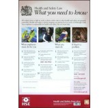 B-Safe BSSHSE01 Health & Safety Law Poster Pvc