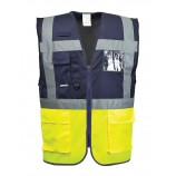 Portwest Paris Executive Vest Yellow Nav