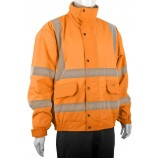 B-Seen CBJFL Hi Viz Fleece Lined Bomber Jacket