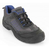 Click Safety Footwear CF17 D/D Trainer Shoe Black/Blue