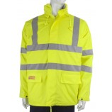 Click CFRLR3456 Flame retardent Anti Static Saturn Yellow Padded Jacket