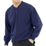 Click CLVPCS Lightweight V-Neck Polycotton Sweat