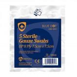 Click Medical CM0453 Gauze Swabs 7.5 X 7.5Cm Pack Of 5 Sterile