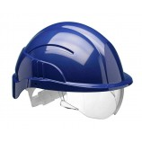 Centurion Vision Plus Safety Helmet Blue C/W Integrated Visor