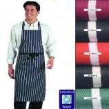 Colour Fast Striped Bib Apron (No pocket)