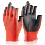 Click 2000 Pu Coated 3 Fingerless Glove Pack of 10