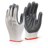 Click Nitrile P/C Polyester Glove Grey
