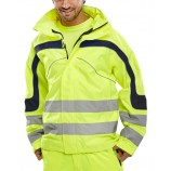 B-Seen Eton Breathable Hi Viz Jacket S