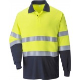 Portwest FR74 Flame Resistant Anti-Static Two Tone Polo Shirt