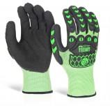 Glovezilla Foam Nitrile Coated Green Glove Pair