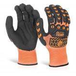 Glovezilla Foam Nitrile Coated OrangeGlove Pair