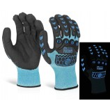 Glovezilla Glow In The Dark Foam Nitrile Glove Pair
