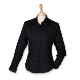 Henbury H551 Ladies Long Sleeve Oxford%2