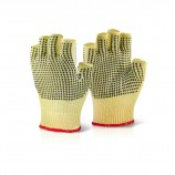Click Kutstop KFLGMW Kevlar Fingerless Dotted Glove