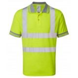 PULSAR P175 Hi-viz 100% Polyester Bird Eye Knit Polo Shirt