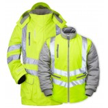 PULSAR P487 7-in-1 Hi-viz Storm Coat c/w Interactive Body Warmer