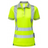 PULSARP700 Ladies Short Sleeve Hi-viz Polo Shirt