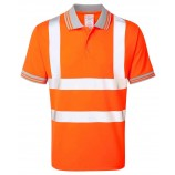 PULSAR PR176 Rail Spec Short Sleeve Hi-viz Polo Shirt