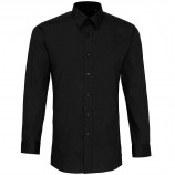 Premier PR204 'Colours' poplin fitted long sleeve shirt