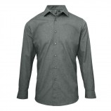 Premier PR217 Poplin cross-dye roll sleeve shirt