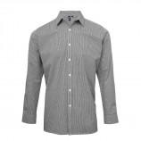 Premier PR220 Microcheck (Gingham) long sleeve cotton shirt