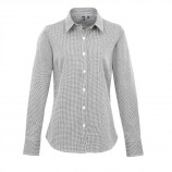 Premier PR320 Women's Microcheck (Gingham) long sleeve cotton shirt