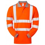 PULSAR PR470 Rail Spec Long Sleeve Hi-viz Polo Shirt