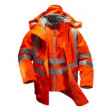 PULSAR PR497 Rail Spec 7-in-1 Hi-viz Storm Coat c/w Interactive Body Warmer