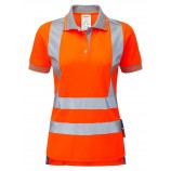 NEW PR701 PULSAR Ladies Rail Spec Short Sleeve Hi-viz Polo Shirt